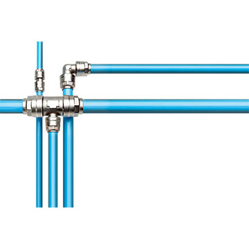 Quick-Lock Tubing with Multiple Connectors Showing